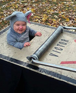 Cute baby costume ideas: Homemade Mouse Trap Costume