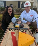 Mouse Trap Family Homemade Costume