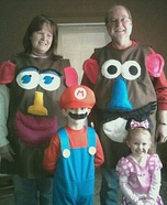 Homemade Mr and Mrs. Potato Head Costumes