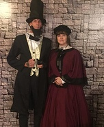 Mr. and Mrs. Abraham Lincoln Homemade Costume