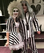 Mr and Mrs Beetlejuice Homemade Costume