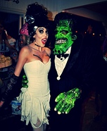 Mr. and Mrs. Frankenstein Homemade Costume