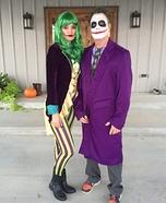 Mr and Mrs Joker Homemade Costume