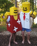 Homemade Mr. and Mrs. Lego Costumes