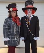 Mr and Mrs Mad Hatter Homemade Costume