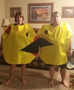 Mr. and Mrs. Pac-Man Homemade Costume