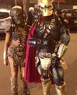 Mr. and Mrs. Predator Homemade Costume