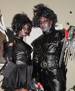 Mr and Ms Scissorhands Homemade Costume