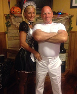 Coolest couples Halloween costumes - Mr. Clean and his Maid Costume