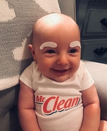 Mr. Clean Baby Homemade Costume