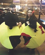 Mr. & Mrs. Pacman Homemade Costume