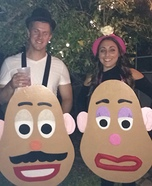 Mr. and Mrs. Potato Head Homemade Costume