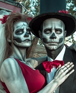 Mr. & Mrs. Skeleton Homemade Costume