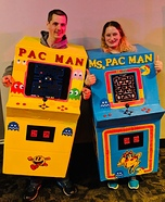 Mr & Ms Pacman Couples Arcade Homemade Costume