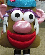 Mrs. Potato Head homemade costume