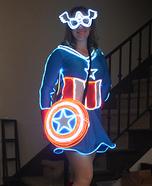 Mrs Captain America Glow Homemade Costume