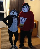 Mrs Utz and Mr Boh Homemade Costume