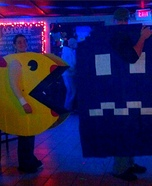 Ms. PAC man and Ghost Homemade Costume