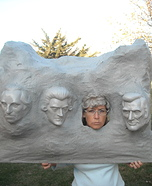 Homemade Mt. Rushmore Costume