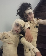 Mummies Kids Homemade Costume