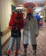 Muppets Animal and Beaker Couple Homemade Costume