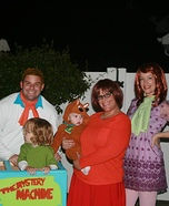 Mystery Inc. Family Homemade Costume