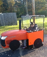 Nathaniel's Tractor Homemade Costume