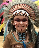 Native Indian Girl Homemade Costume