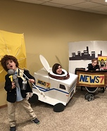 News Team Homemade Costume