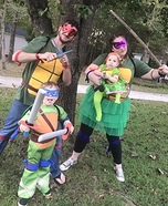 Ninja Turtle Family Homemade Costume