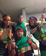 Ninja Turtles Homemade Group Costume