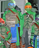 Ninja Turtles Family Homemade Costume