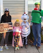 Nintendo Family Homemade Costume