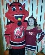 NJ Devil and NJ Devils Dancer Costume