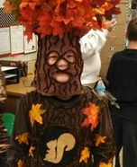 Homemade Oak Tree Costume