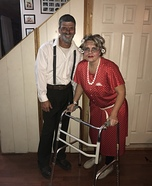 Old Couple Homemade Costume