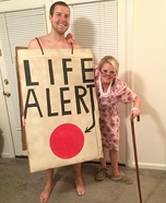 Coolest couples Halloween costumes - Old Lady and a Life Alert Couple Costume