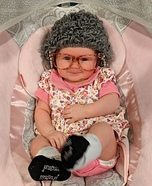 Old Lady Baby Homemade Costume