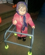 Old Lady Button Homemade Costume