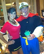Olive Oyl and Popeye Couples Costume