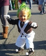 Homemade Oompa Loompa Baby Costume