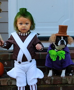 Cutest Halloween costumes for babies - Willy Wonka and Baby Oompa Loompa Costume