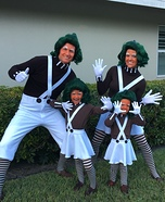 Oompa Loompa Family Homemade Costume