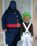 Oompa Loompa & Violet the Blueberry Homemade Costume