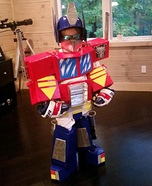 Optimus Prime Homemade Costume