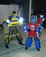 Optimus Prime and Bumblebee Homemade Costume