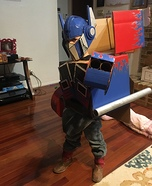 Optimus Prime Transformer Homemade Costume