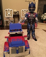 Optimus Prime Transforming Homemade Costume