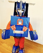 Optimus Prime Transforming Truck Homemade Costume