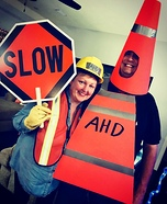 Orange Cone and Highway Safety Homemade Costume